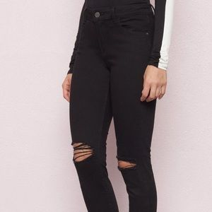 Garage Black Ripped High Waisted Skinny Jeans
